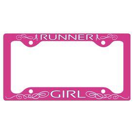 Runner Girl... License Plate Holder