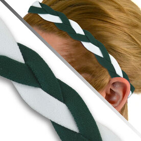 GripBand Headband - Dark Green/White