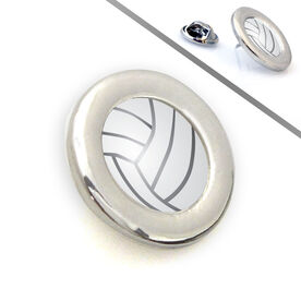 Volleyball Lapel Pin Turned Volleyball