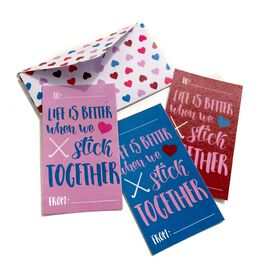 Stick Together Field Hockey Valentine's Day Card