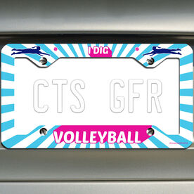 Volleyball License Plate Holder I Dig Volleyball