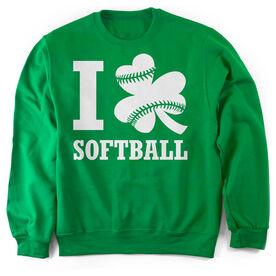 Softball Crew Neck Sweatshirt - I Shamrock Softball