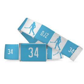 Field Hockey Lifestyle Belt Personalized Player Running