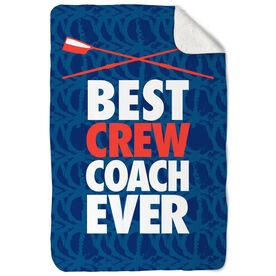 Crew Sherpa Fleece Blanket Best Coach Ever