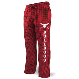 Baseball Lounge Pants Team Name With Crossed Bats