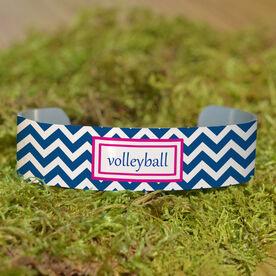 Volleyball Cuff Bracelet (Narrow) Volleyball Chevron