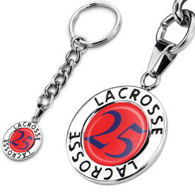 Lacrosse Circle Keychain Your Number