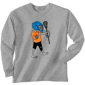 Guys Lacrosse Long Sleeve T-Shirt - Zombie