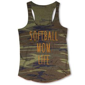 Softball Camouflage Racerback Tank Top - Softball Mom Life