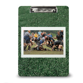 Rugby Custom Clipboard Rugby Your Photo Turf