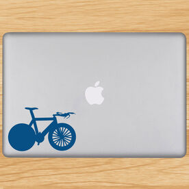Tri Bike Removable TRIForeverGraphix Laptop Decal