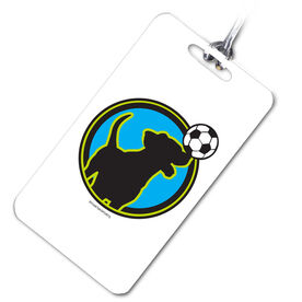 Soccer Bag/Luggage Tag Soccer Dog