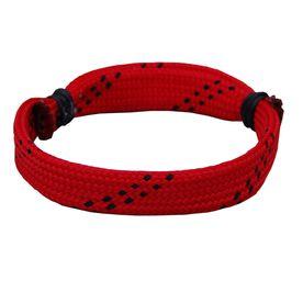 Hockey Lace Bracelet Red Adjustable Wrister Bracelet