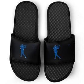 Football Black Slide Sandals - Silhouette