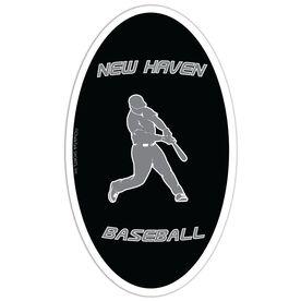 Baseball Oval Car Magnet Personalized Batter