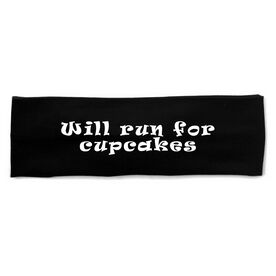 RunTechnology Tempo Performance Headband - Will Run For Cupcakes
