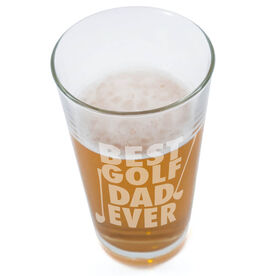 20 oz. Beer Pint Glass Best Golf Dad Ever