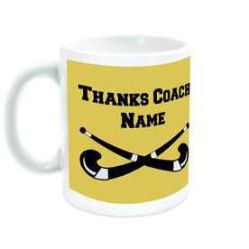 Field Hockey Ceramic Mug Thanks Coach Crossed Sticks with Team Roster