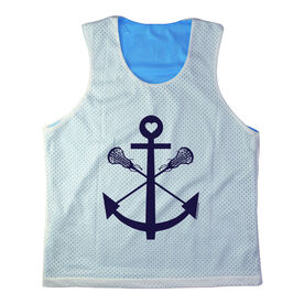 Girls Racerback Pinnie Lacrosse Sticks Anchor