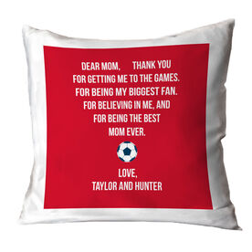 Soccer Throw Pillow - Dear Mom Heart