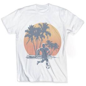 Vintage Soccer T-Shirt - Sunset