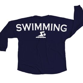 Swimming Statement Jersey Shirt Swimming
