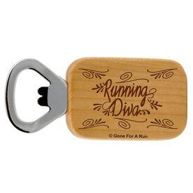 Running Diva Maple Bottle Opener
