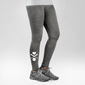 Baseball Performance Tights Heart Crossed Baseball Bats