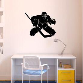 Hockey Goalie Regular Removable ChalkTalkGraphix Wall Decal