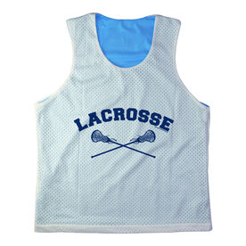 Girls Racerback Pinnie Lacrosse With Crossed Sticks Navy