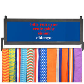AthletesWALL Medal Display - Personalized Chicago Mantra
