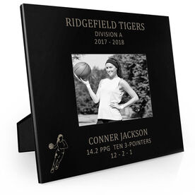 Basketball Engraved Picture Frame - Girl Player Stats