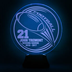 Football Acrylic LED Lamp Hail Mary With 3 Lines and Number