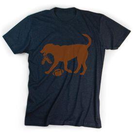 Football Tshirt Short Sleeve Flash The Football Dog