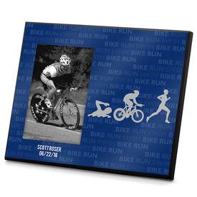 Triathlon Photo Frame Swim Bike Run Repeat Guys