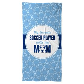 Soccer Beach Towel My Favorite Player