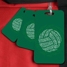 Volleyball Bag/Luggage Tag Volleyball Words