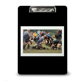 Rugby Custom Clipboard Rugby Your Photo Solid Background