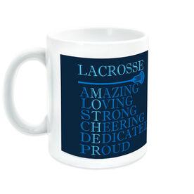 Guys Lacrosse Ceramic Mug - Mother Words