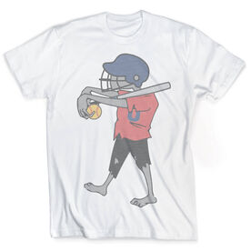 Vintage Softball T-Shirt - Zombie Player