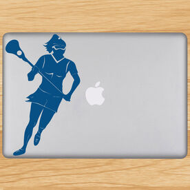 Lacrosse Girl Player Removable LulaGraphix Laptop Decal
