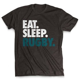 Rugby T-Shirt Short Sleeve Eat. Sleep. Rugby.