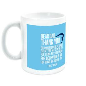 Gymnastics Ceramic Mug Dear Dad Female Silhouette