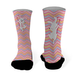 Hockey Printed Mid Calf Socks Hockey Easter Bunny