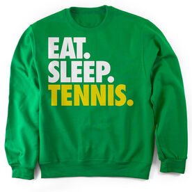 Tennis Crew Neck Sweatshirt Eat. Sleep. Tennis.