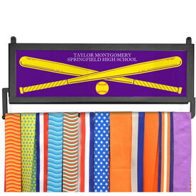 AthletesWALL Medal Display - Personalized Text With Crossed Bats