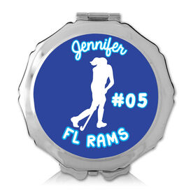 Personalized Field Hockey Girl Color Compact Mirror