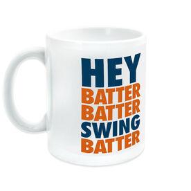 Baseball Ceramic Mug Hey Batter