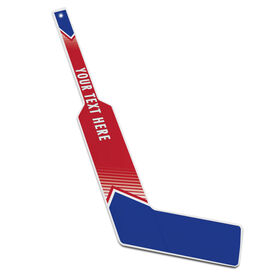 Personalized Knee Hockey Goalie Stick Pro Team Colors