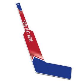 Personalized Knee Hockey Goalie Stick Pro Team Colors